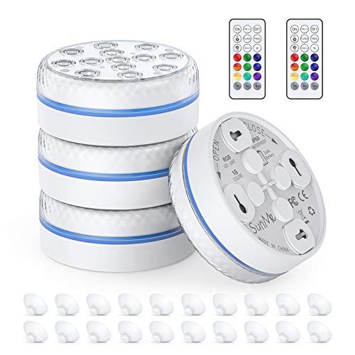 Unterwasser-LED-Leuchte 13 LED-RGB, batteriebetriebene...