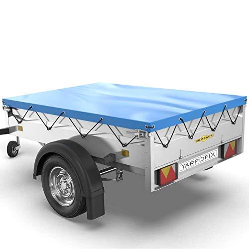 Tarpofix® Anhängerplane Flachplane 258x136x8 cm - randverstärkte...