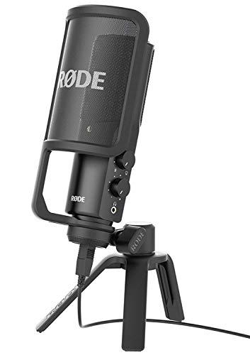 Rode NTUSB Studioqualität USB-Kondensatormikrofon mit Tischstativ und...