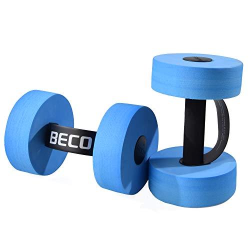 BECO Aquahanteln   1 Paar - 2 Stück - Schaumstoffhanteln für...