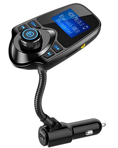 Nulaxy Bluetooth FM Transmitter, Radio Adapter Car Kit mit...