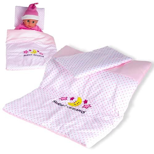 Smart Planet Baby Rose Puppen Decke und Kissen-Set für Kinder zum...