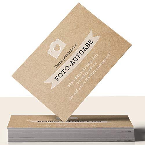 Fotospiel: 50 Fotoaufgaben für die HOCHZEIT + 2 Blanko Fotokarten –...