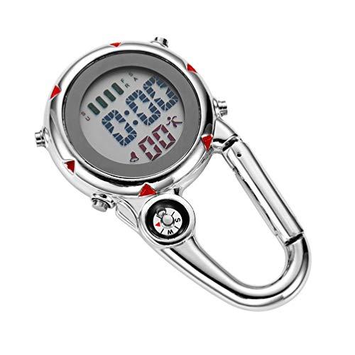 BESPORTBLE Clip auf Quarzuhr Karabineruhr Mini Pocket Fob Uhr für...