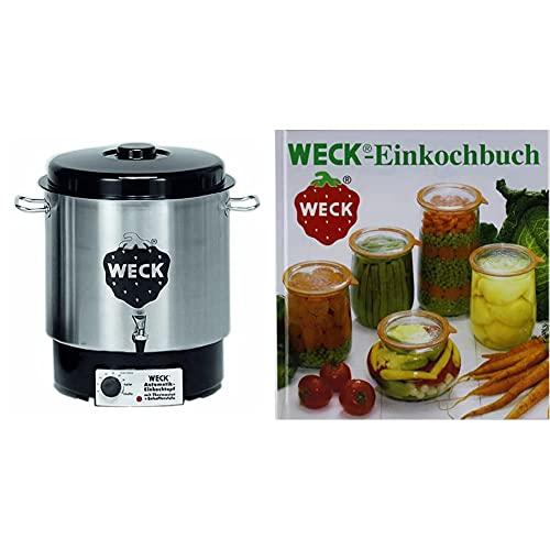 Weck WAT 24A Einkochautomat 1800 Watt mit Hahn, ohne Uhr, Edelstahl,...