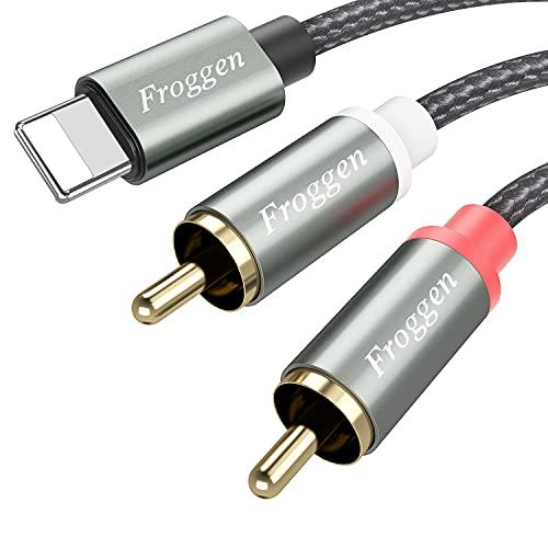 Froggen Cinch Kabel Cinch auf Klinke Kabel Smartphones Klinke Audio...