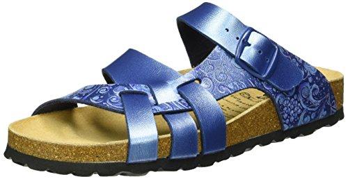 Lico BIOLINE FLORA Damen Pantoletten, Blau, 39 EU