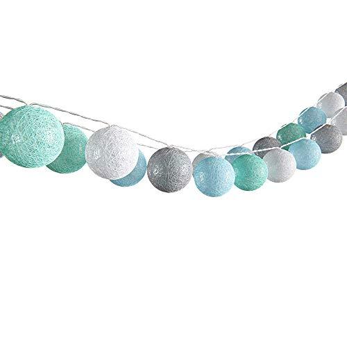 VICCO Lichterkette Cotton Balls Girlande verschiedene Farbvarianten...