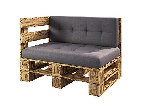 sunnypillow Palettenmöbel Gartenmöbel Set aus Holz Indoor/Outdoor...