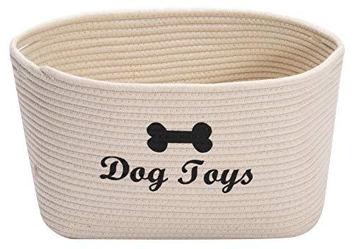 MOREZI Baumwollseil Haustier Spielzeug Aufbewahrungskorb, Hund...