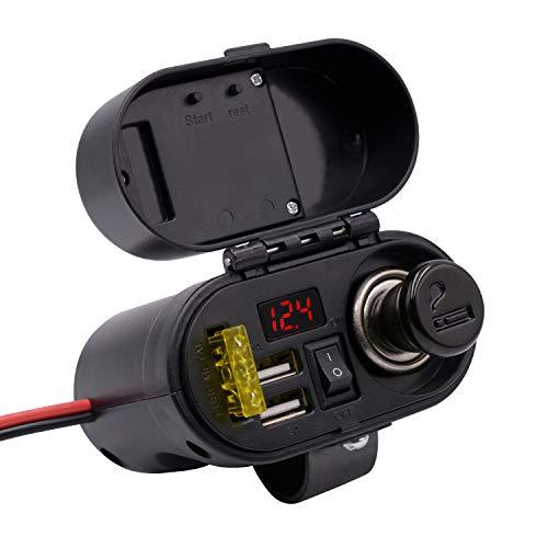 Kriogor 3A/5V 2 Ports USB Steckdose+ Zigarettenanzünder+ 20A...