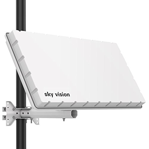 sky vision Flat H39 DS SAT Flachantenne (Flache Satellitenschüssel...