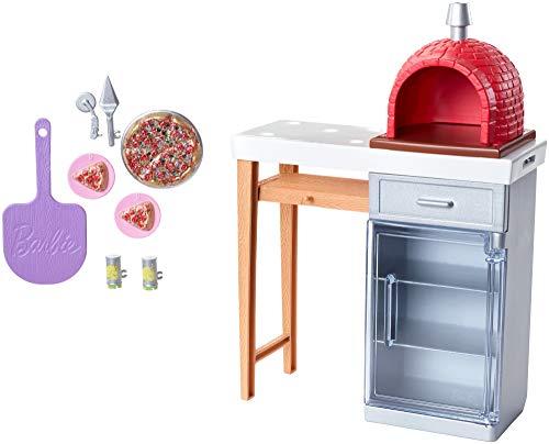 Barbie FXG39 - Möbel Spielset Outdoor mit Steinpizzaofen und...