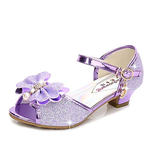 YOSICIL Mädchen Prinzessin Schuhe ELSA Schuhe mit Absatz Glitzer...