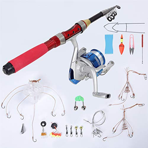 CYCA Bait Angelrute Kombination mit Spule Kombination Angelrute und...