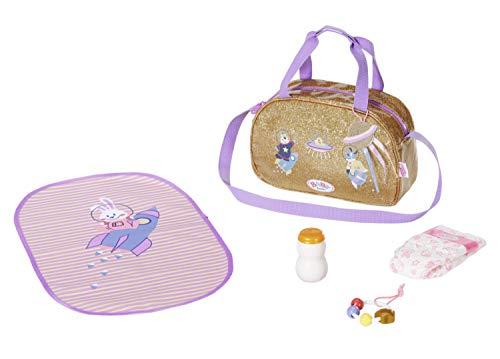 Zapf Creation 831106 BABY born Happy Birthday goldene Wickeltasche mit...