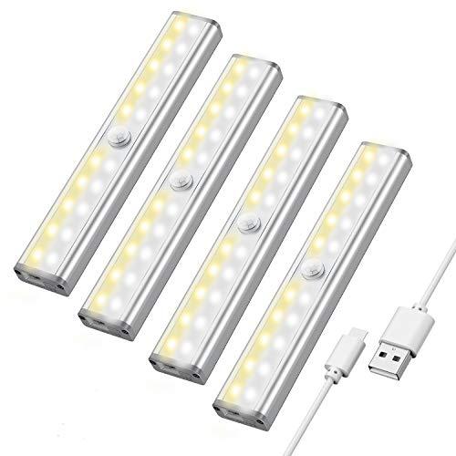 Maxuni LED Schrankbeleuchtung mit Bewegungsmelder, 3 Helligkeitstufen...