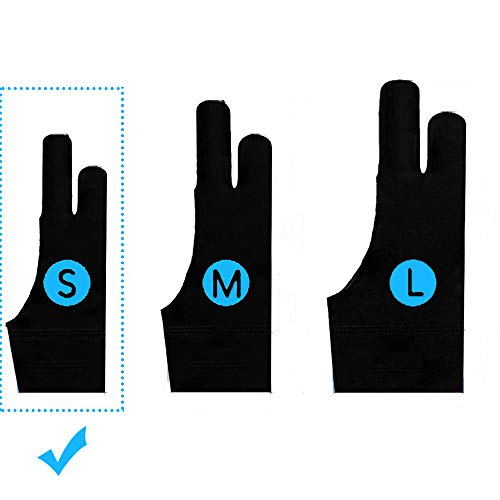 TNTOR Elastisch Antifouling Handschuh, Zwei-Finger-Handschuh für...