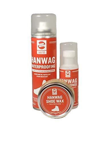 Hanwag Schuhpflege Komplett Set mit Shoe Wax, Care Sponge...