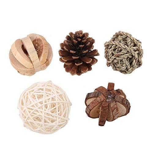 Broco Kleintiere Natürliche Holz Handgemachte Ball Set Hamster Ratten...