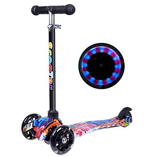 Yuanj Scooter Kinder Roller, Dreiradscooter für Mädchen und Jungen,...