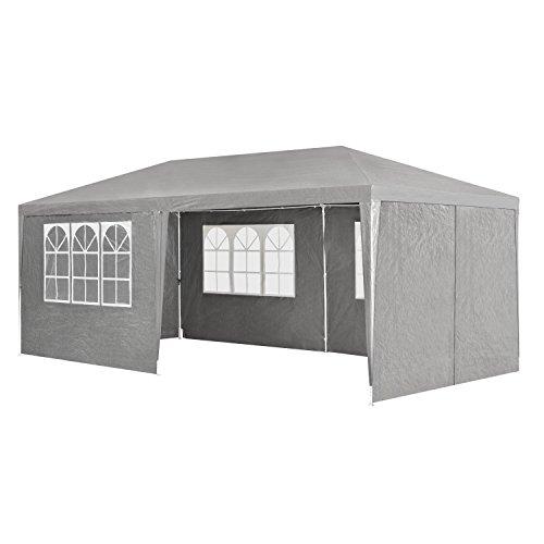 ArtLife Partyzelt 3x6 m grau mit 6 Seitenwände – Pavillon...