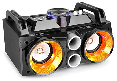 Fenton MDJ100 Media-Player USB SD BT AUX 100W Verstärker 2x4 Speaker...