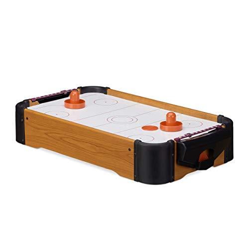 Relaxdays Airhockey Tischspiel, Tischairhockey mit Gebläse,...