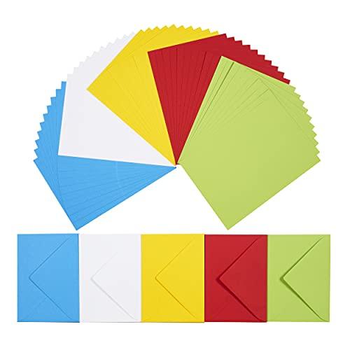 perfect ideaz 50 bunte Klapp-Karten DIN-A6 mit Brief-Umschlag 11 x...
