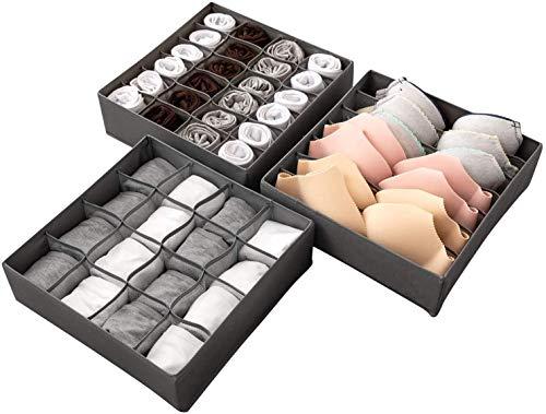 LinStyle Organizer Schublade, 3 Stück Unterwäsche Aufbewahrungsbox,...