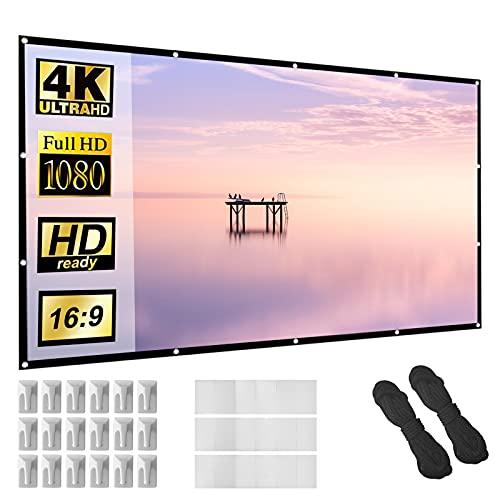 Beamer Leinwand 150 Zoll 16:9 HD Faltbarer Bildschirm für tragbare...