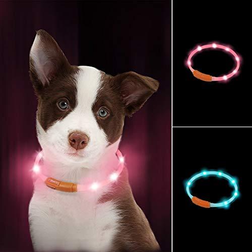 LaRoo led Hund leuchthalsband Leuchtend USB aufladbar hundehalsband...