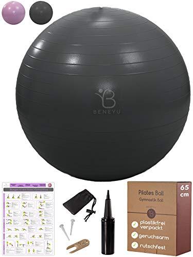beneyu® Robuster & Rutschfester Gymnastikball mit Stabiler...