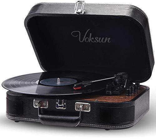 Plattenspieler,VOKSUN Bluetooth Schallplattenspieler Vinyl...