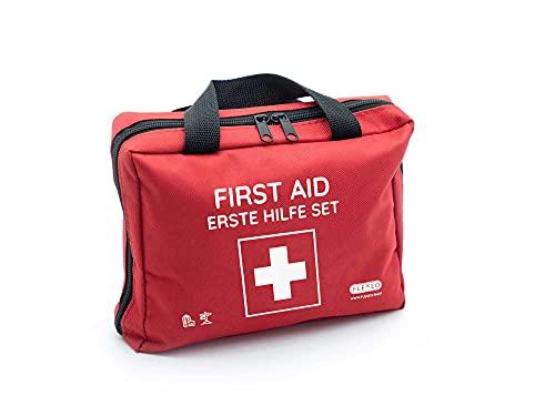 Erste-Hilfe-Tasche mit Sofort-Kältekompressen, Rettungsdecke und...