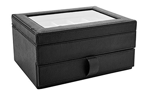 Fossil MLG0642 Uhrenkassette Watch Box Leder Uhrenbox für 10 Uhren...