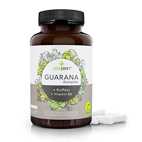 VITALKRAFT Guarana-Komplex / 120 hochdosierte vegane Kapseln mit 470mg...