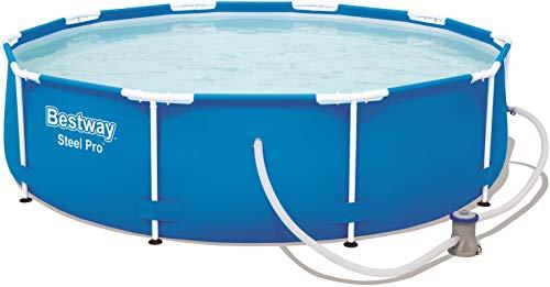 Bestway Steel Pro Frame Pool, rund 305x76 cm Stahlrahmenpool-Set mit...