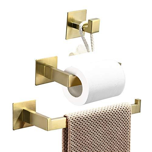 WOMAO Toilettenpapierhalter Gold Ohne Bohren Unterputz Werkstatt...