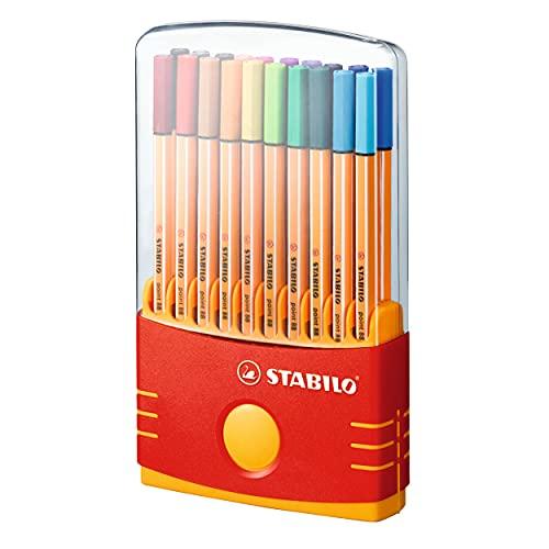 Fineliner - STABILO point 88 ColorParade - 20er Tischset in...