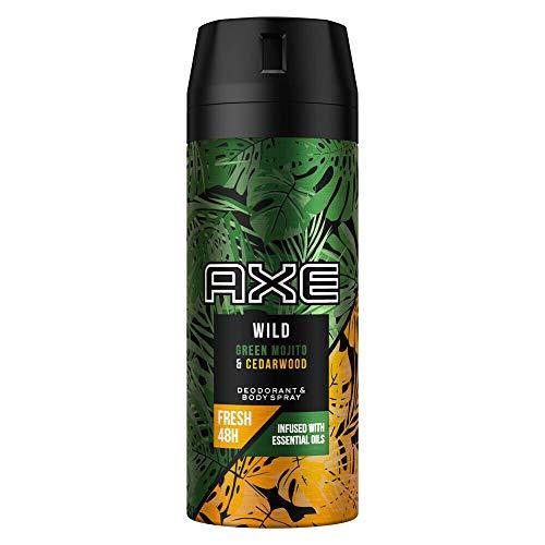 6er Pack - AXE Men Deodorant/Body Spray'Wild Green Mojito + Cedarwood'...