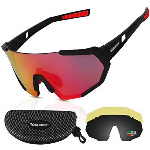 ICOCOPRO Polarisierte Sportbrillen UV400 Fahrradbrille Sonnenbrille,...