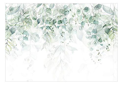murando Fototapete grüne Blätter 350x256 cm Vlies Tapeten Wandtapete...