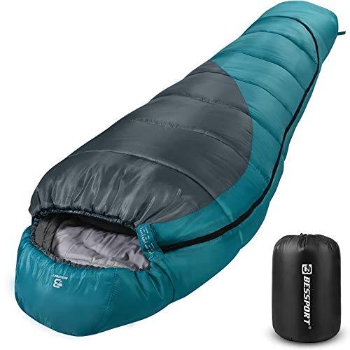 Bessport Schlafsack Winter | -9°C und 0℃ Outdoor Mumienschlafsack...