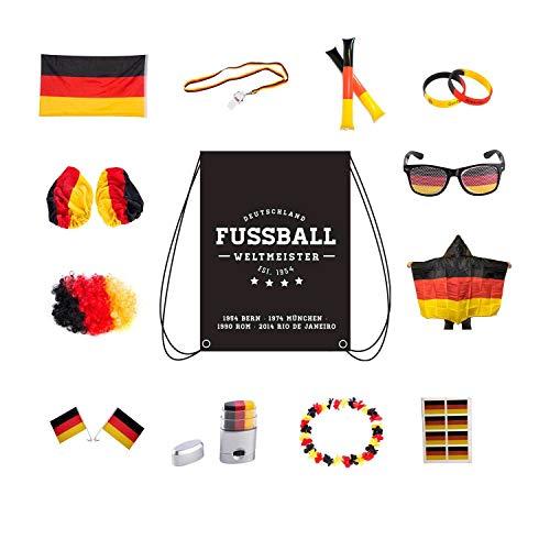 UMOI 24-teiliges Deutschland Fanartikel Set zur Europameisterschaft...