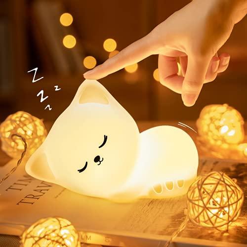 LED Nachtlicht Kinder, Kawaii Katze Nachttischlampe Baby Babyzimmer...