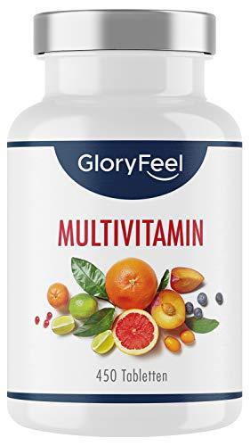 Multivitamin Hochdosiert - 450 Tabletten (15 Monate) - Alle Wertvollen...