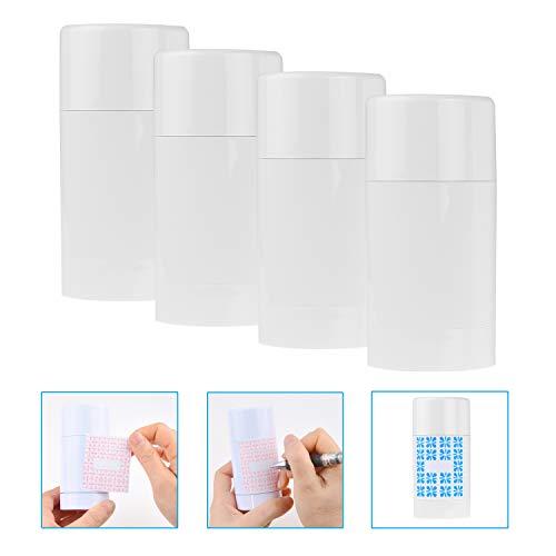 Kare & Kind Leere Deodorant-Behälter mit Kappe (4-Pack) - 75 ml. –...