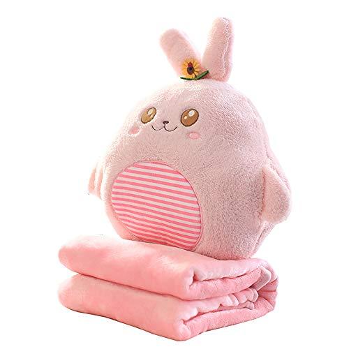 2 in 1 Baby Kinder kissen Kuscheltier Katze Kaninchen 35cm Plüschtier...