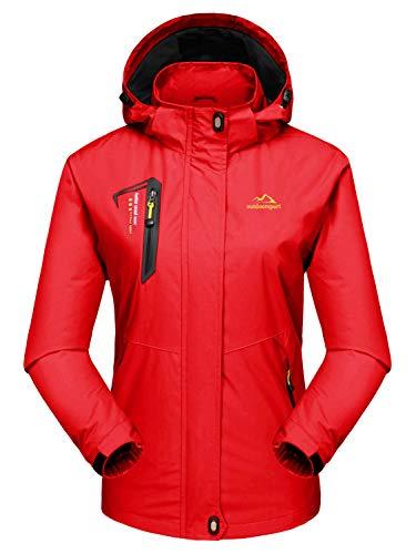 MAGCOMSEN Damen Outdoorjacke Skijacke Wasserdicht Windstopper Jacke...